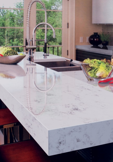 Countertop comparison natural stone vs engineered stone for Engineered quartz countertops
